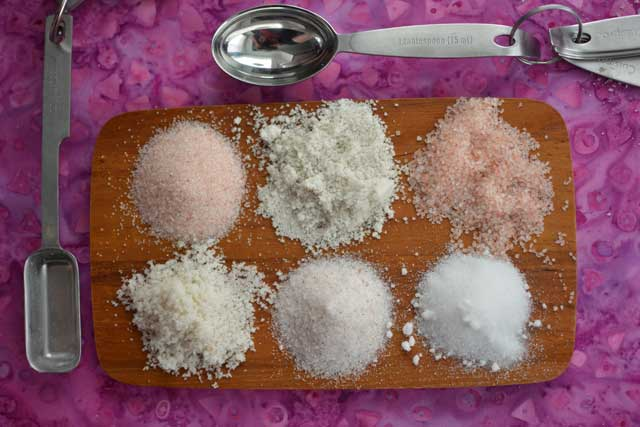 What do you use to wiegh salt?
